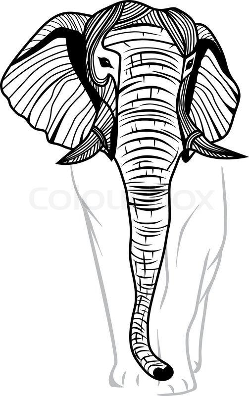 503x800 Elephant Head For Mascot Or Emblem Design, Logo Vector Animal