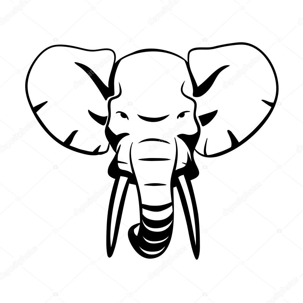 1024x1024 Elephant Head Stock Vector Bolkins