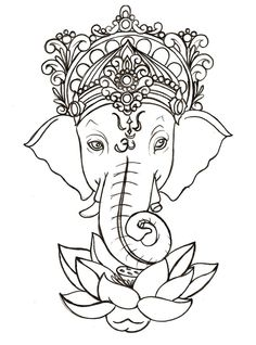 236x318 Drawing Elephant Head