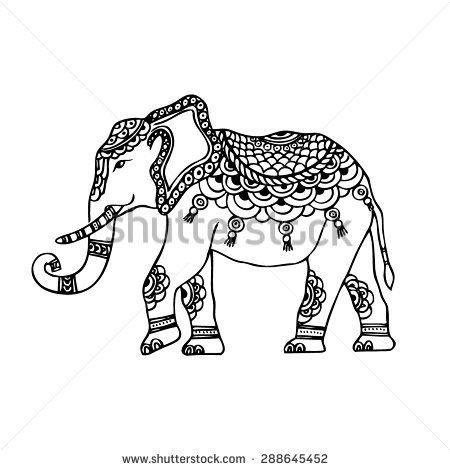 Elephant Indian Drawing