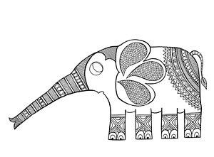300x221 Indian Elephant Drawings Fine Art America