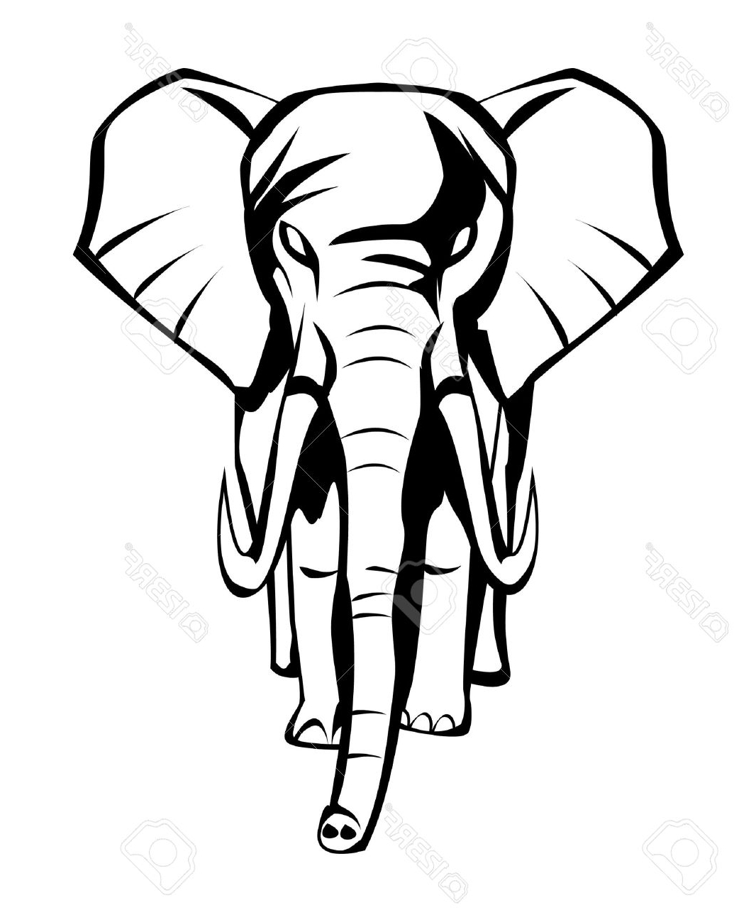1066x1300 Indian Elephant Face Drawing Elephant Royalty Free Cliparts