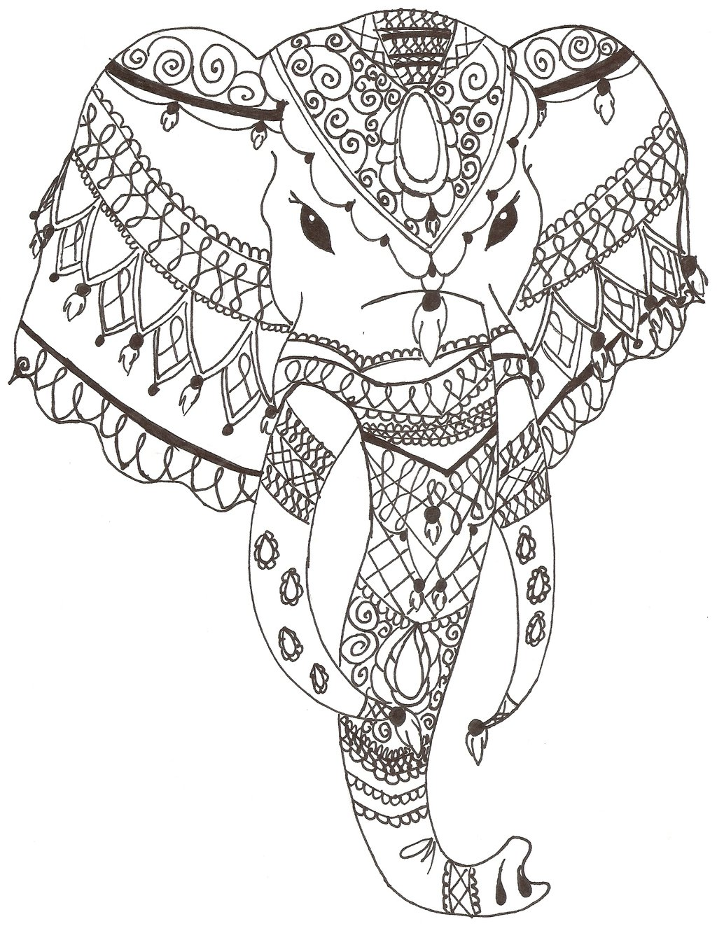 1024x1323 Indian Elephant By Grafin On @