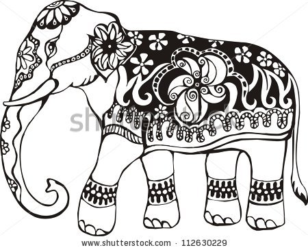 450x365 Indian Elephant Stencil I'M Thinking Of Using This Design
