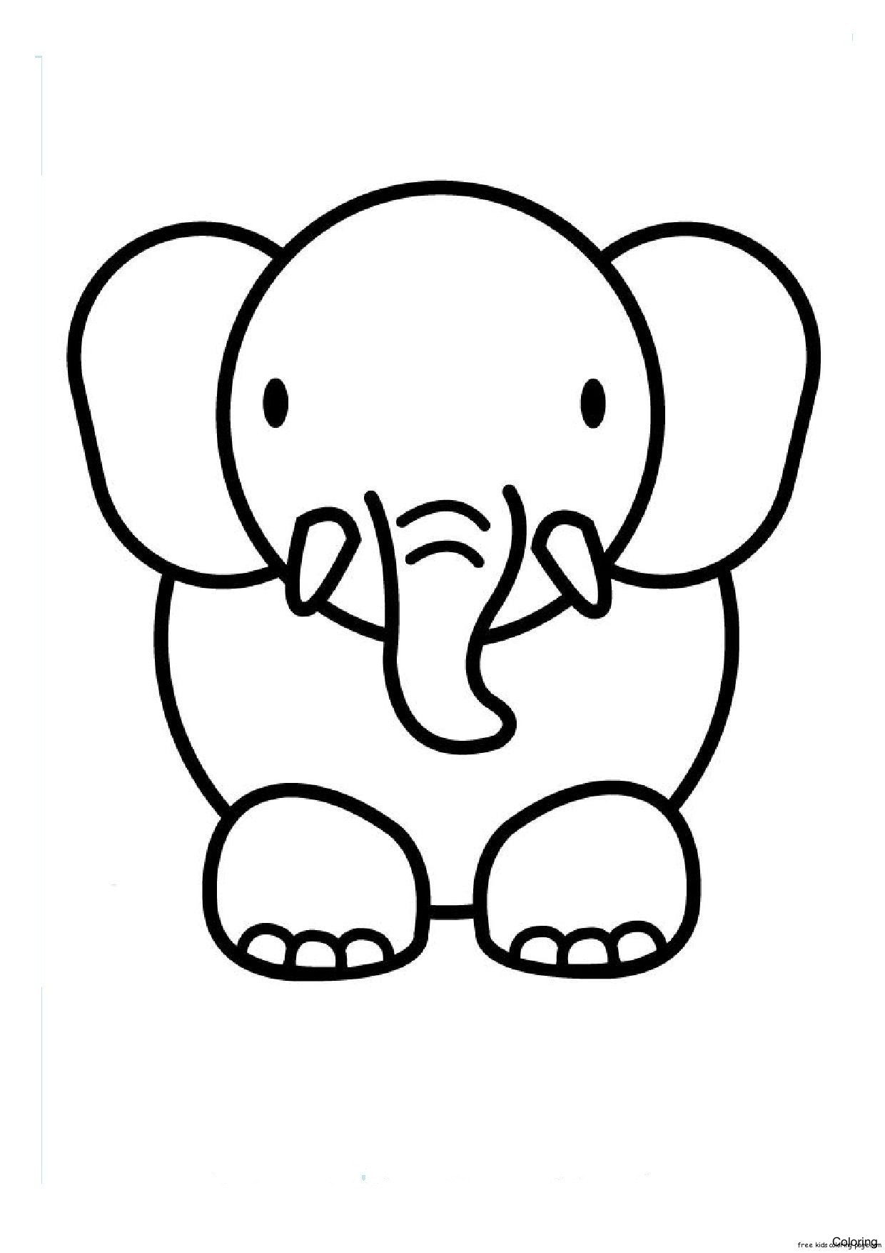 Elephant Kid Drawing