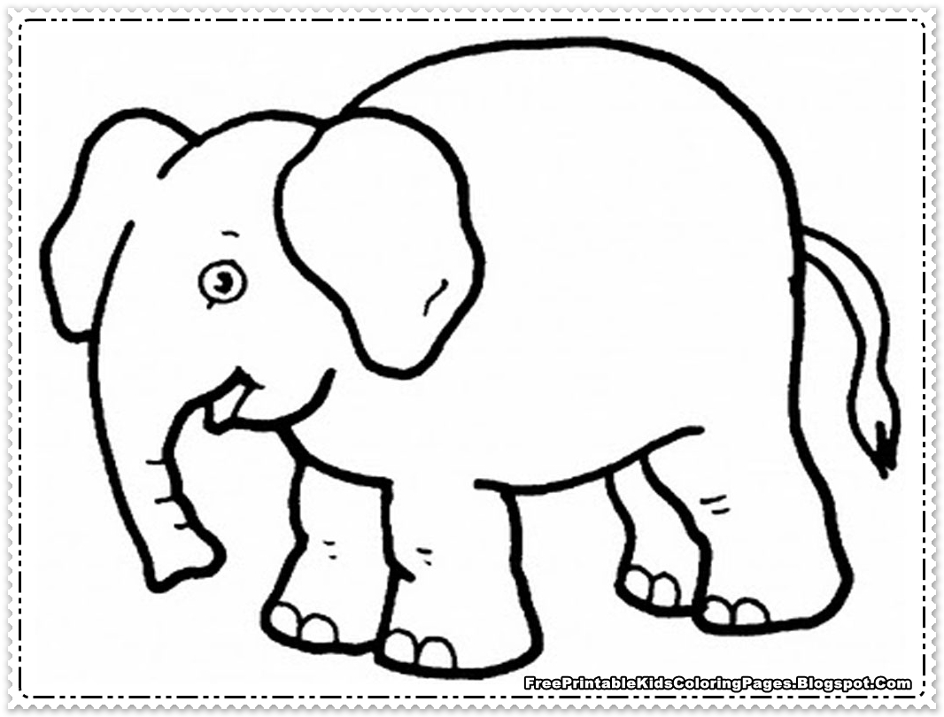 1066x810 Baby Elephant Coloring Pages