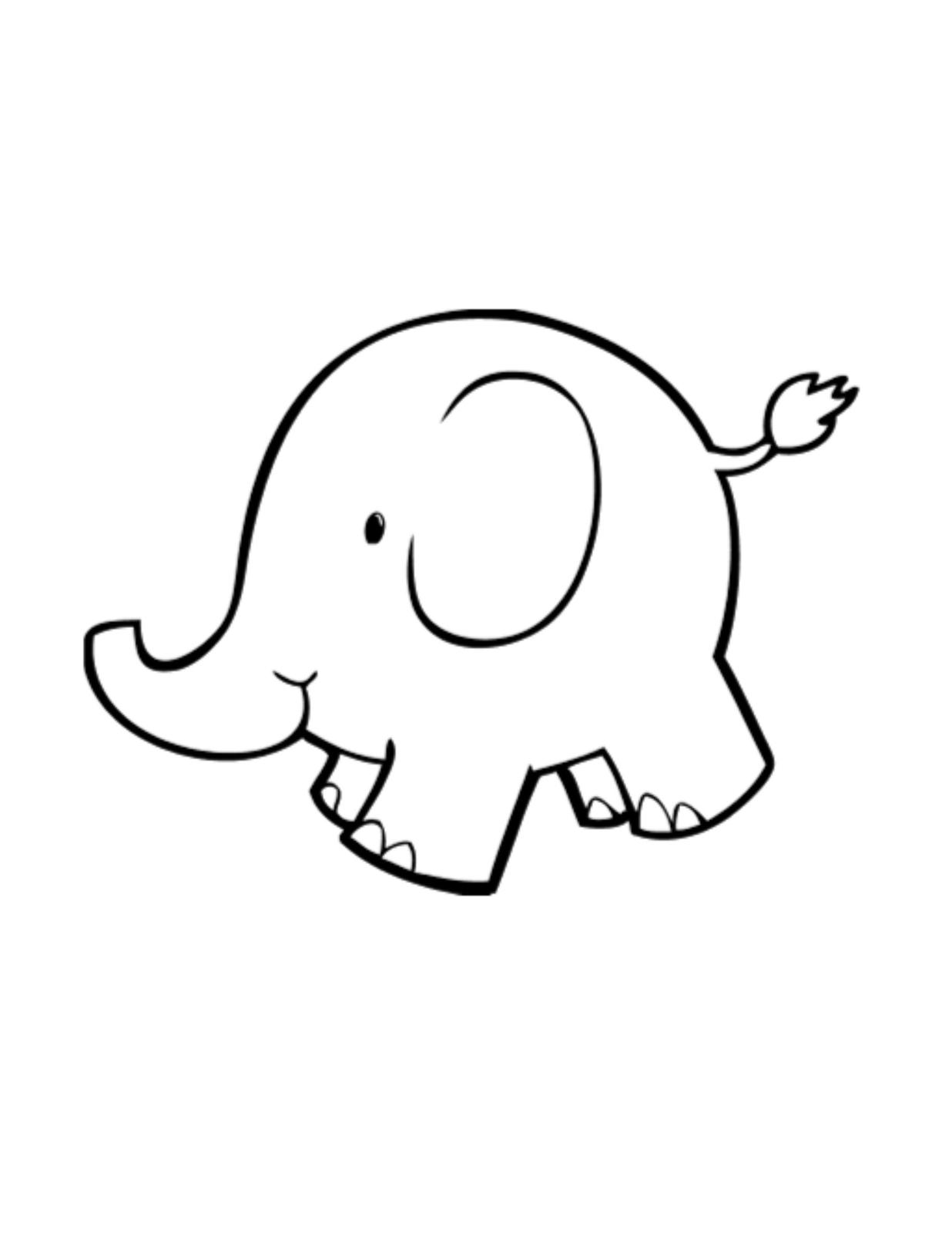 picture regarding Elephant Outline Printable titled Elephant Determine Drawing at  Cost-free for