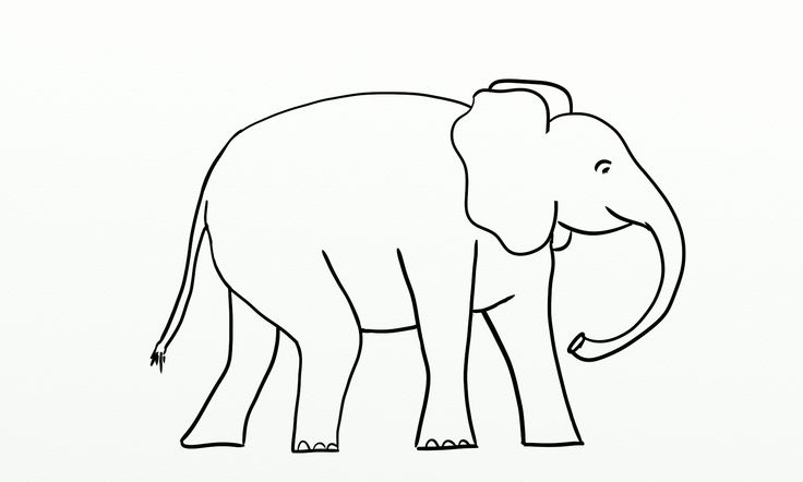 Elephant Outline Drawing at GetDrawings.com | Free for ...
