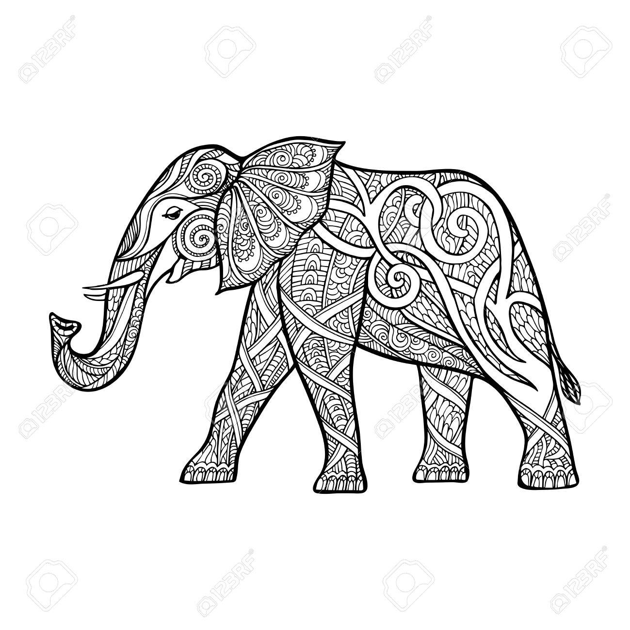 Elephant Outline Drawing at GetDrawings.com | Free for personal use ...