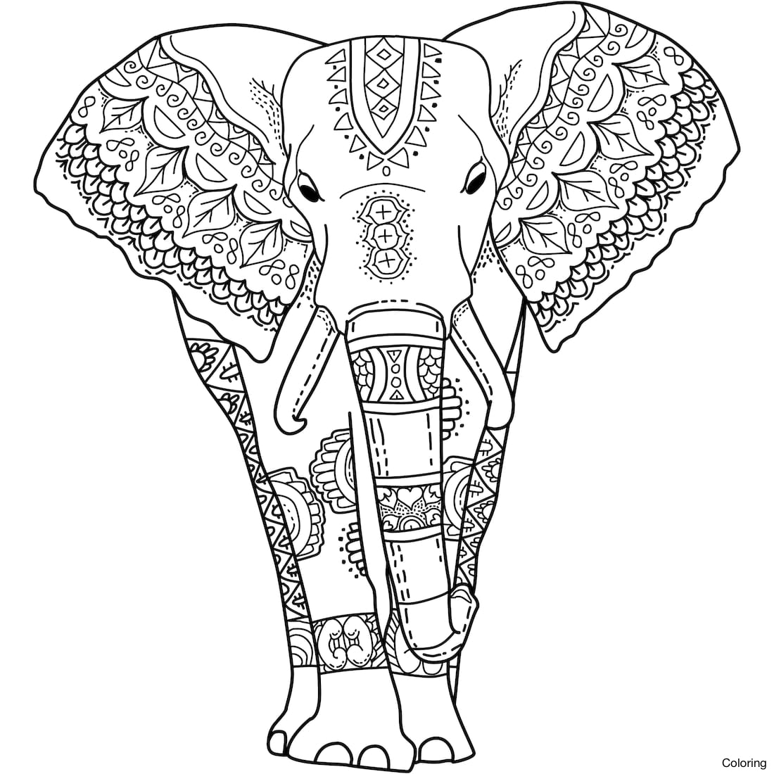 Elephant Pattern Drawing at GetDrawings.com   Free for personal use ...