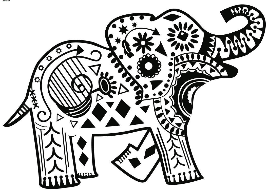 Elephant Pattern Drawing at GetDrawings.com | Free for personal use ...