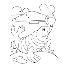 230x230 Top 10 Free Printable Seal Coloring Pages For Toddlers