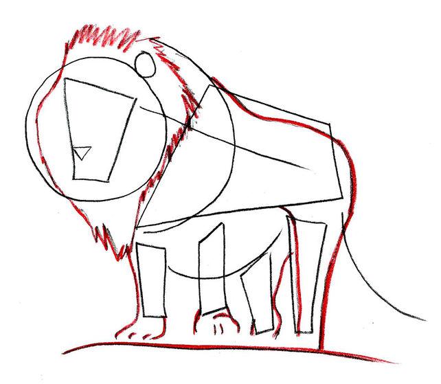 642x559 4 Ways To Draw A Lion