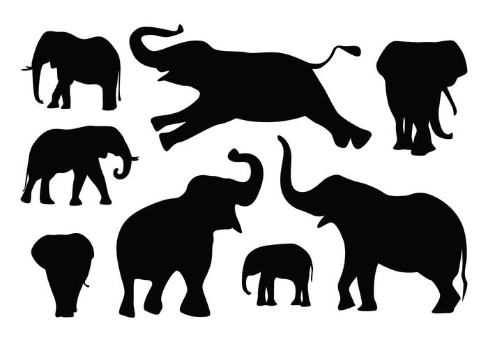 700x490 Elephant Silhouette Free Vector Art