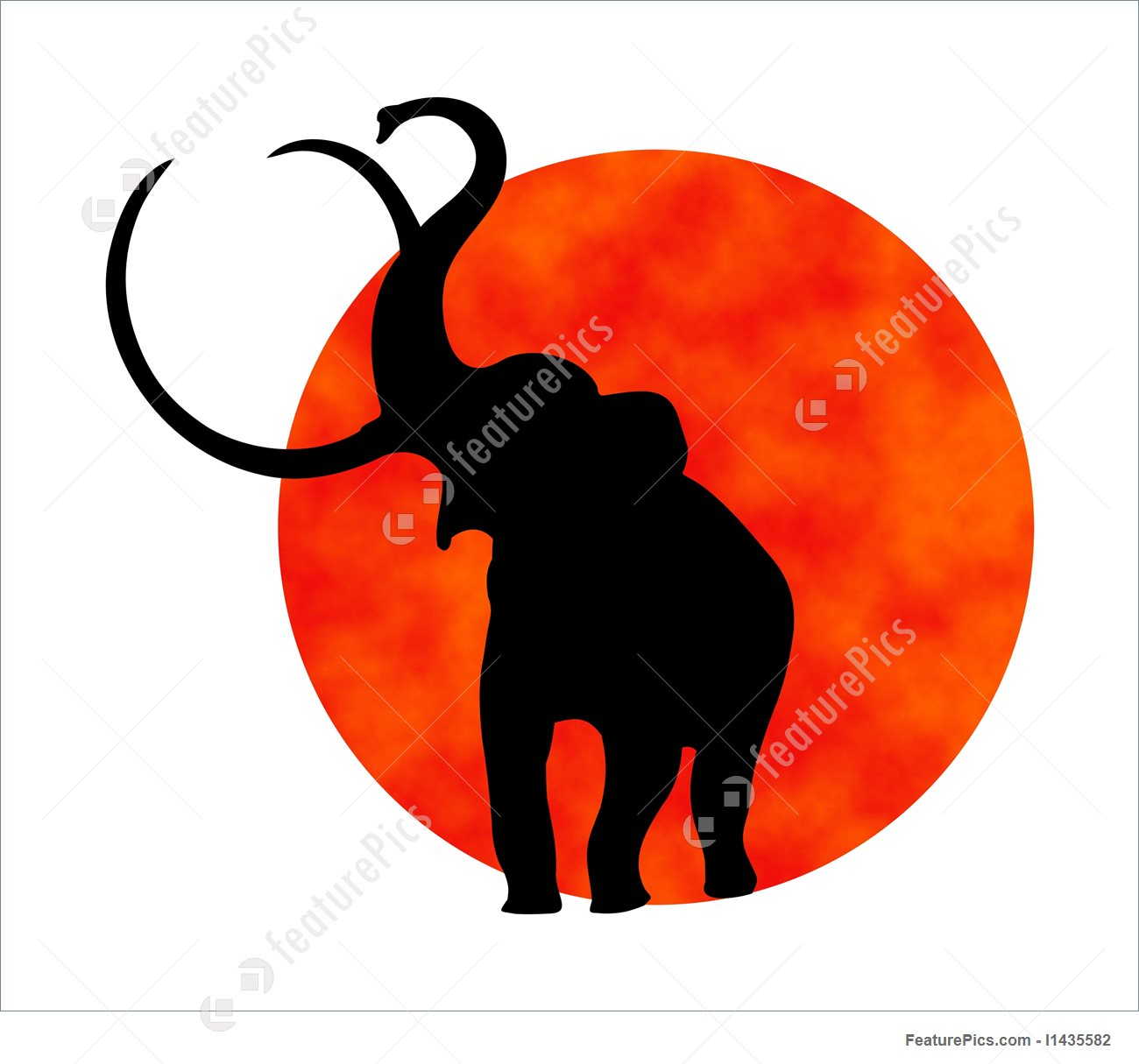 1300x1215 Elephant Silhouette Illustration