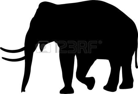 450x309 Elephant Silhouette Stock Photos. Royalty Free Business Images