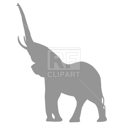 400x400 Elephant Silhouette Royalty Free Vector Clip Art Image
