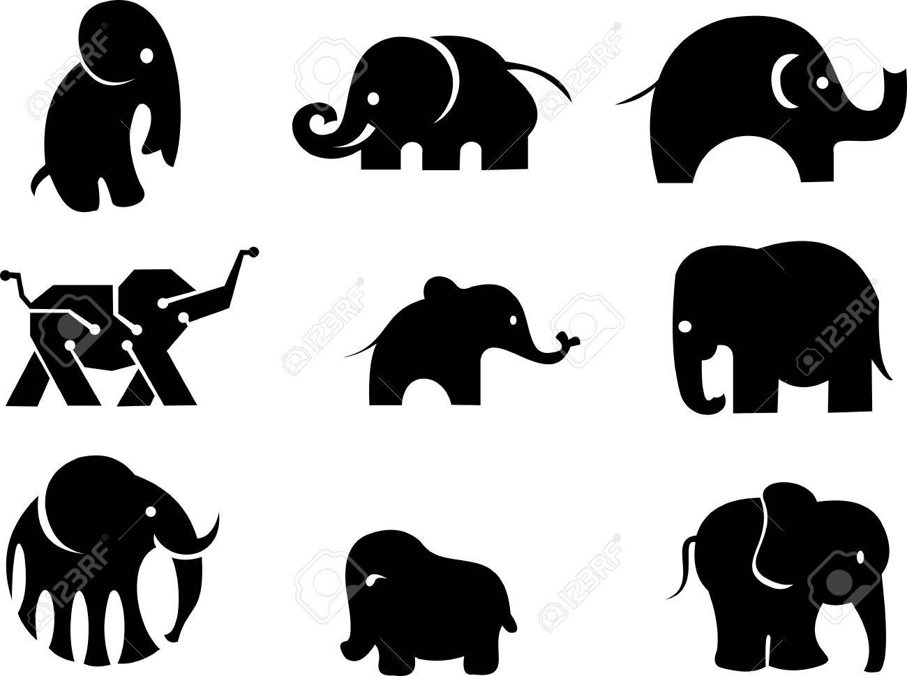 1300x969 Stock Logo Elephant Silhouette Royalty Free Cliparts, Vectors, And