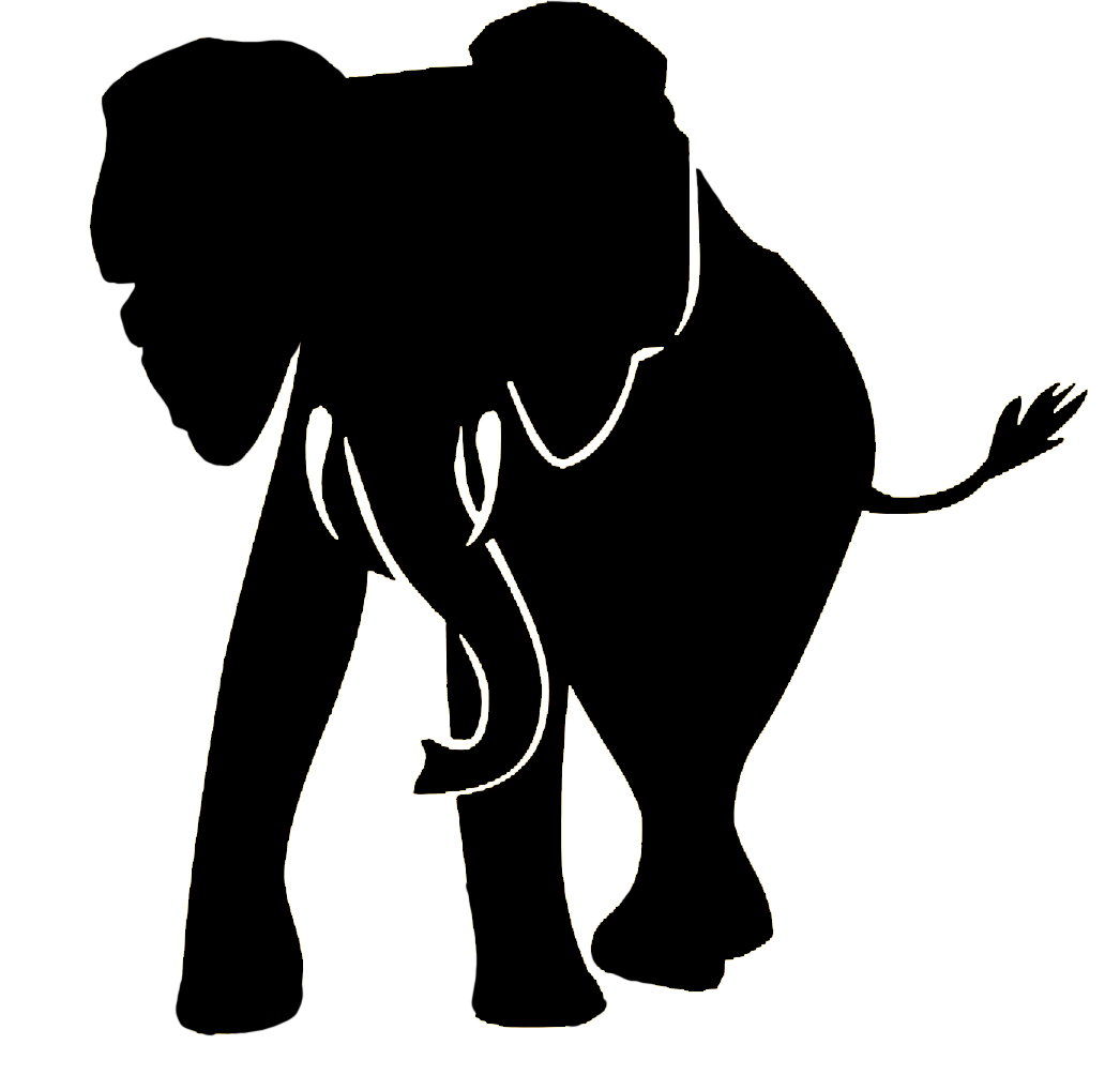 Wild Animal Wall Stickers Elephant Silhouette At Getdrawings Com Free For Personal