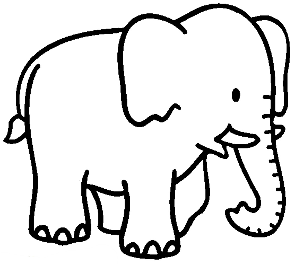 Elephant Simple Drawing