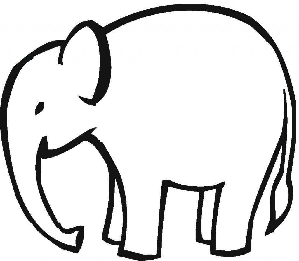 1024x891 Simple Elephant Outline Simple Drawing Of An Elephant Simple