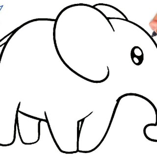 320x320 Tag For Elephant Easy Drawing The Long Distance Relationship