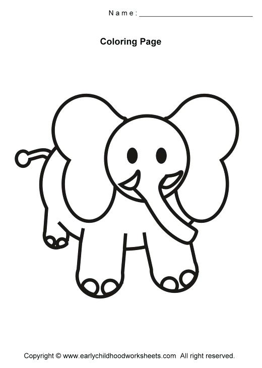 520x730 Elegant Simple Animal Coloring Pages Image Easy Animals Elephant