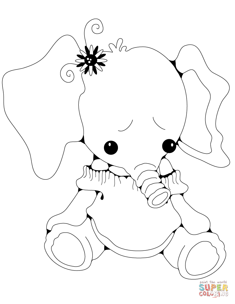 773x1000 Elephants Coloring Pages Free