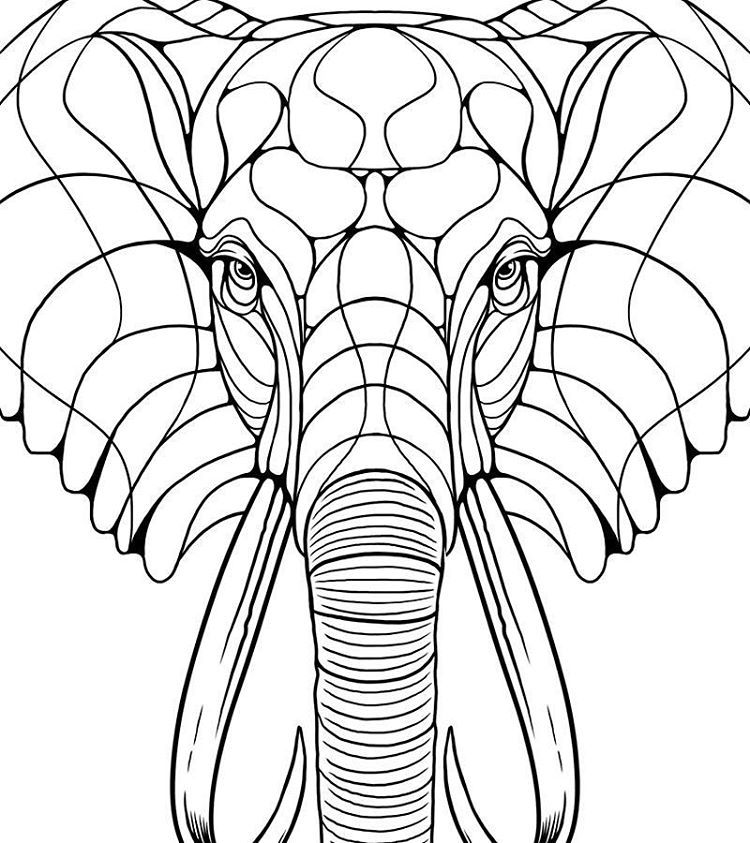 750x843 Marcos Cabrera Doodles! Working On This Kind Of Hipster Elephant
