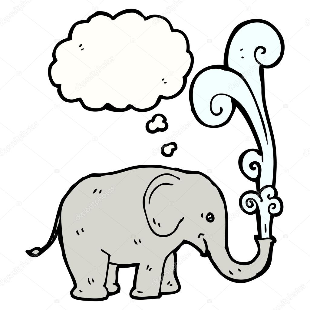 Elephant Spraying Water Drawing at GetDrawings.com | Free for ...