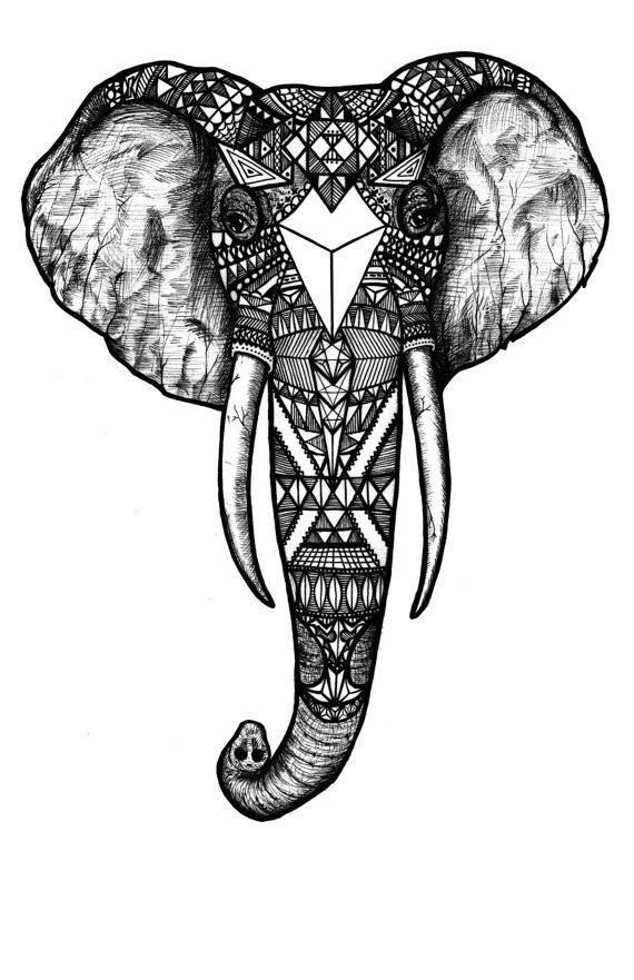 Elephant Tattoo Drawing At Getdrawings Com Free For Personal Use