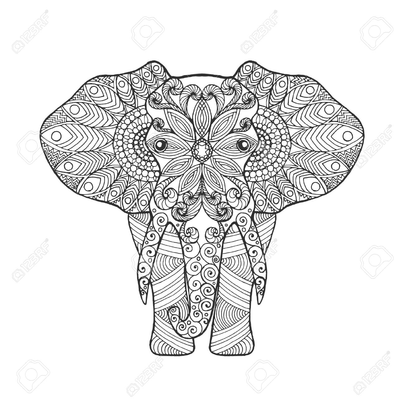 Elephant Tusk Drawing at GetDrawings.com | Free for personal use ...