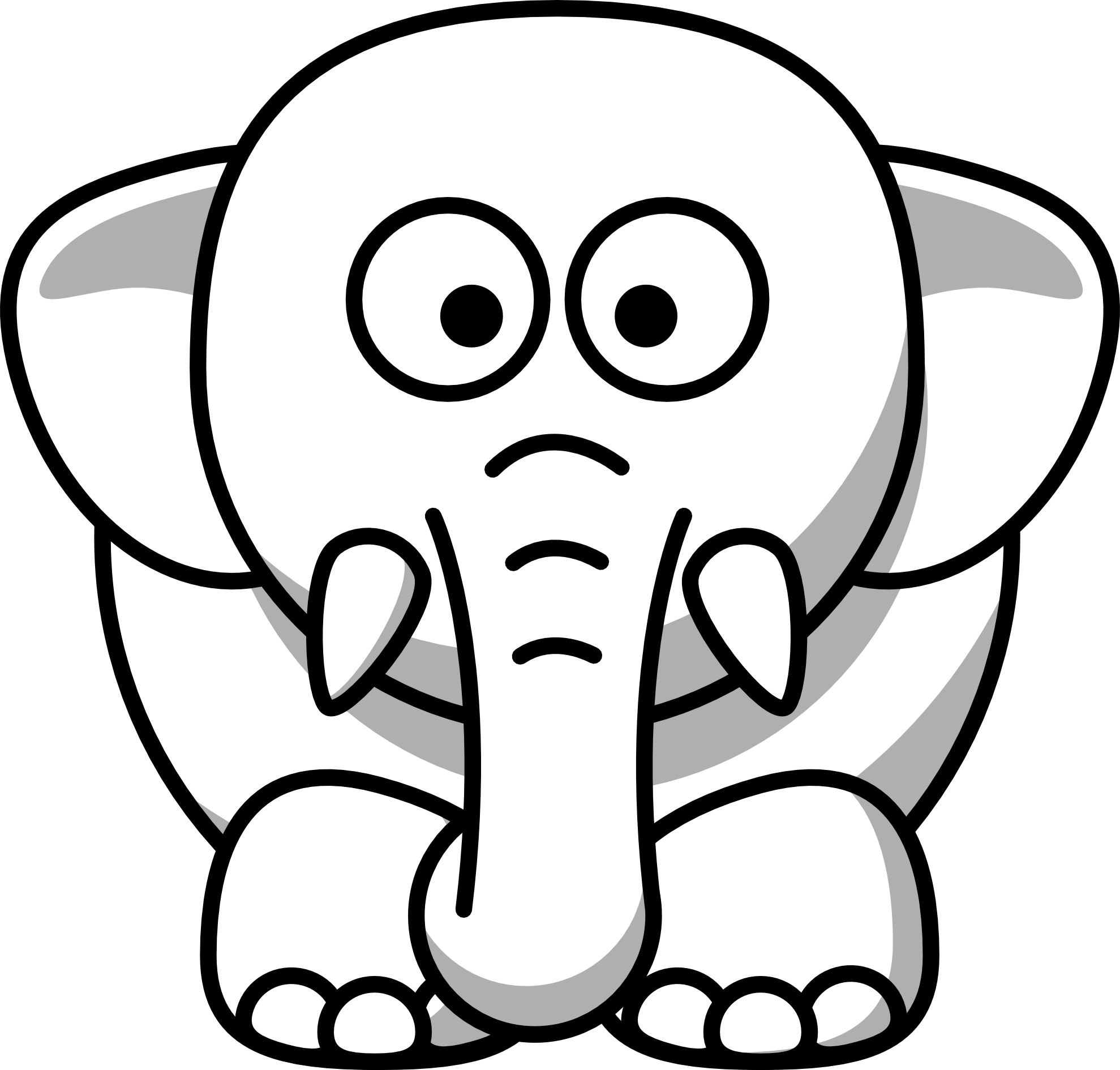 Elephants Face Drawing at GetDrawings.com   Free for personal use ...