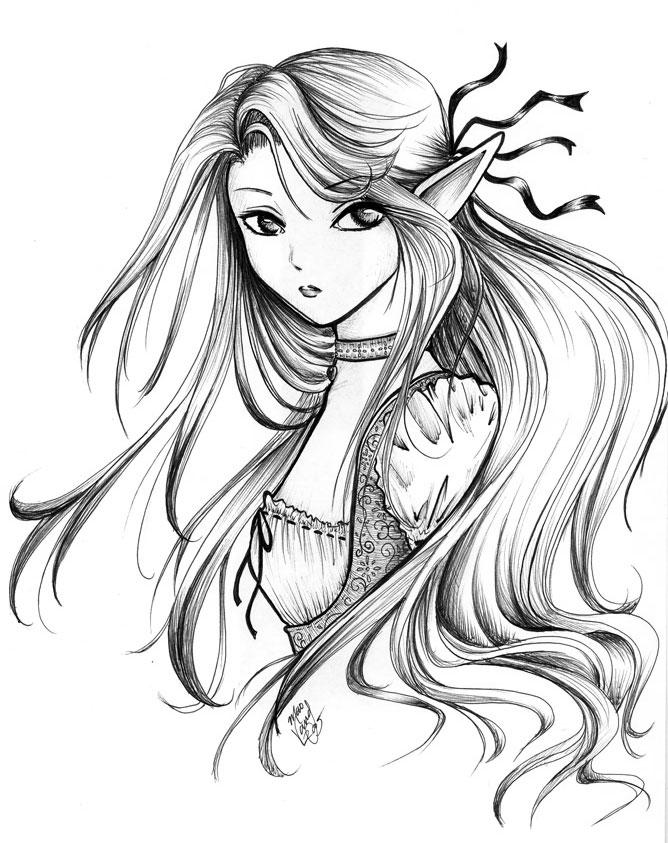 668x843 Elegant Elf By Mmmaoh