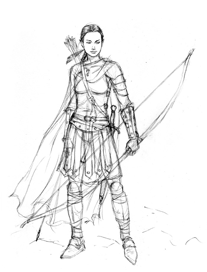 700x919 Armored Elf Sketch Sketches Elves And Sketches