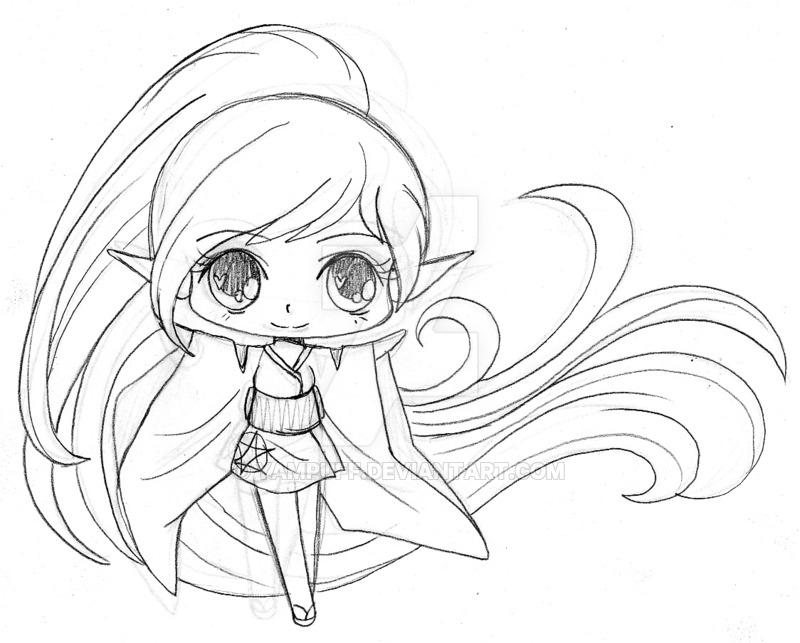 800x643 Little Elf Sketch By Yampuff