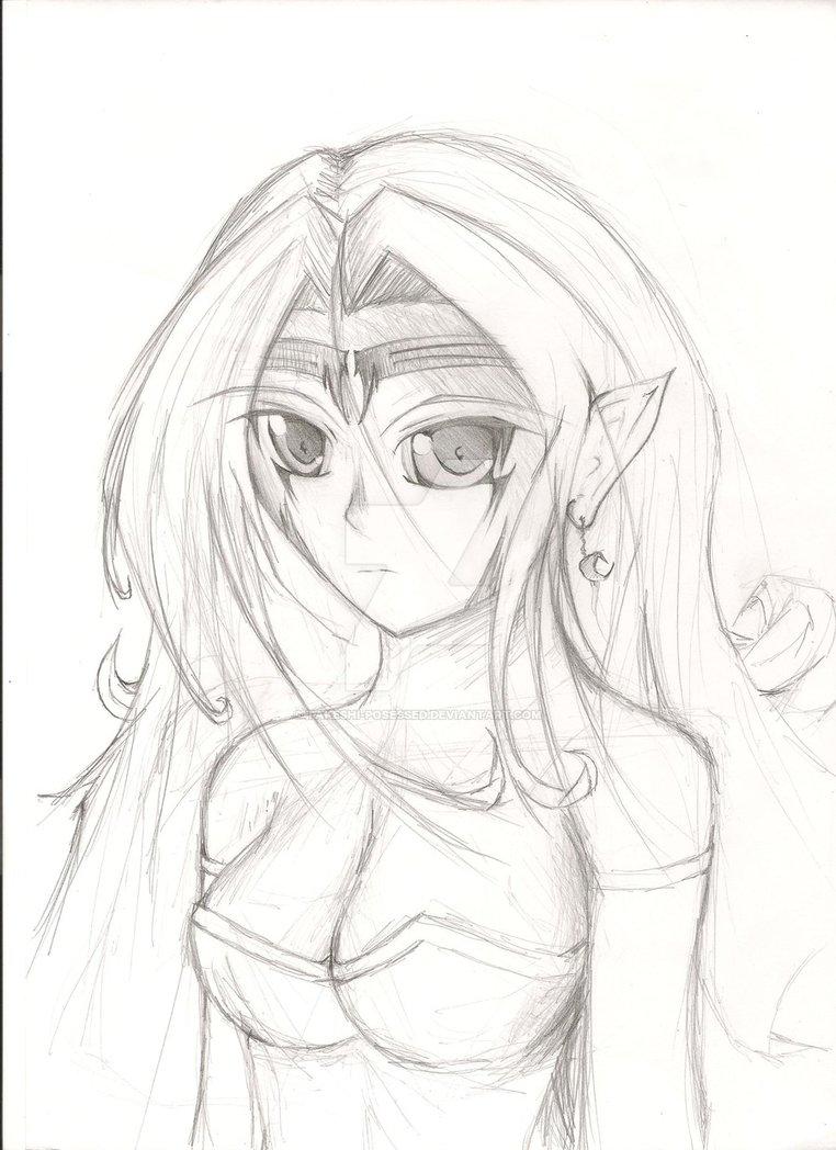 762x1048 Original Drawing Elf By Takeshi Posessed