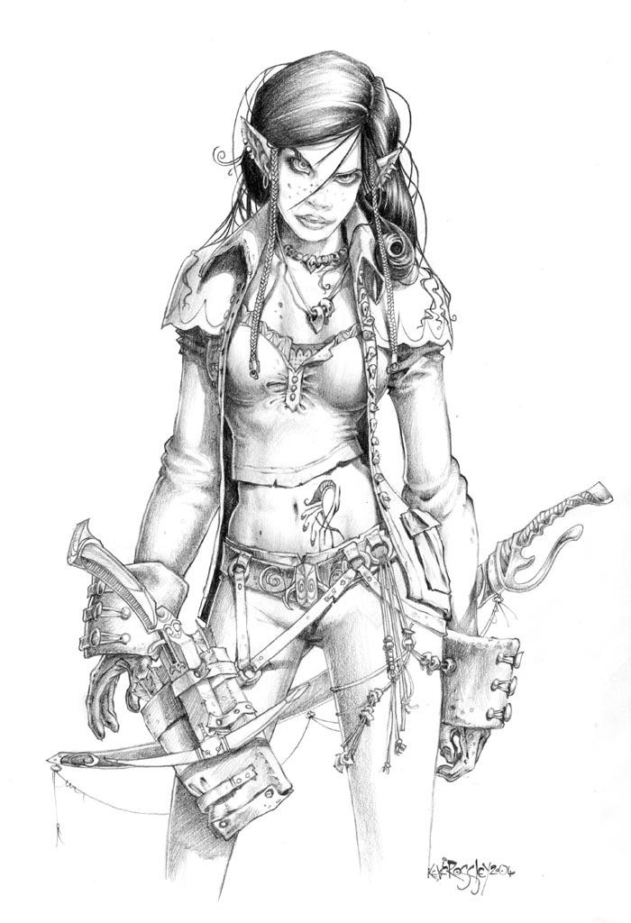 700x1024 Elf Girl By Kevcrossley