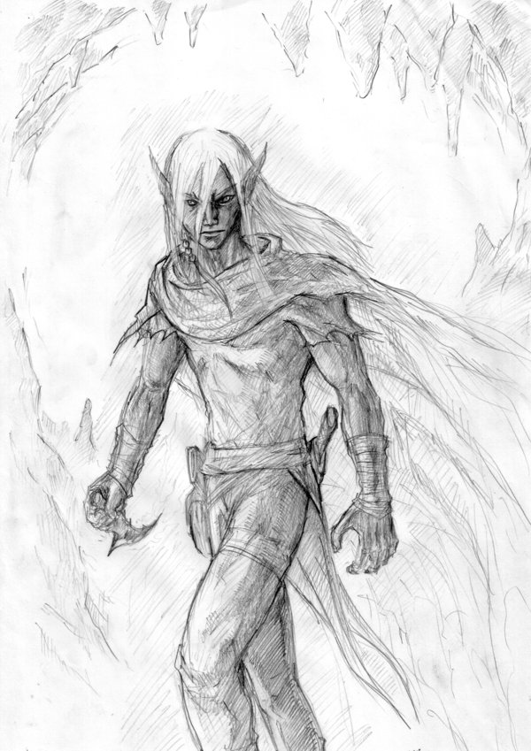 600x849 Veldrin, The Dark Elf By Missingbanana