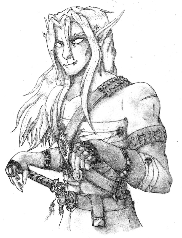 1024x1338 Blood Elf Rogue Sketch By Gabriel Forgotten