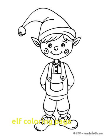 364x470 Confidential Elf Coloring Pictures Page With Pages Drawing
