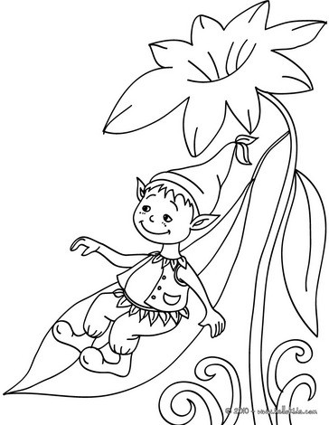 364x470 Elves Coloring Pages