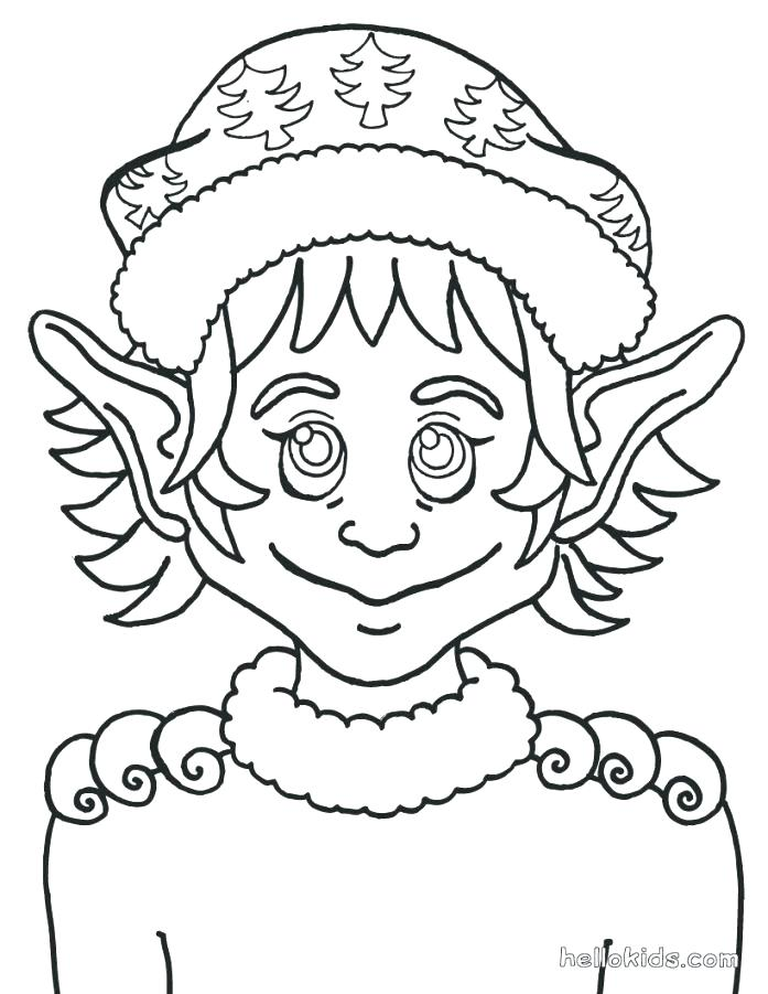 697x901 Ears Coloring Page Elf Pointed