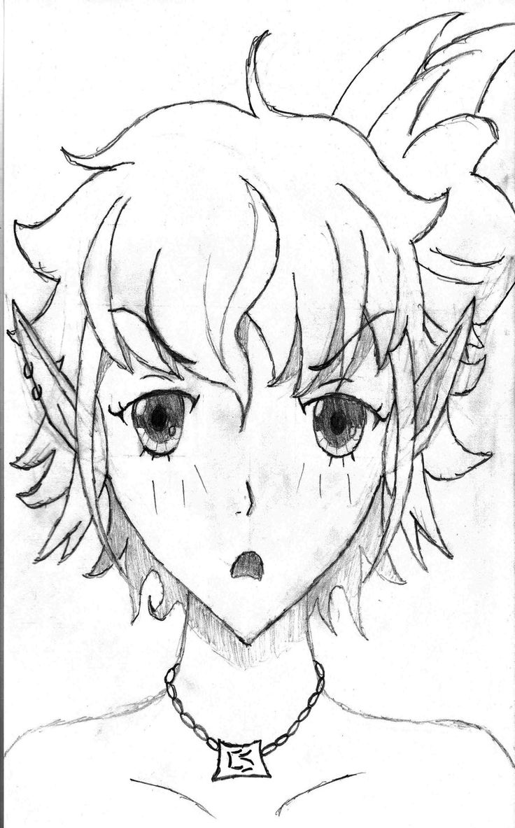 Elf Face Drawing