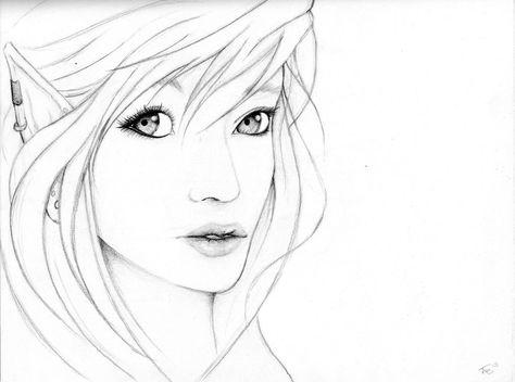 474x352 Elf Drawings Elf Portrait