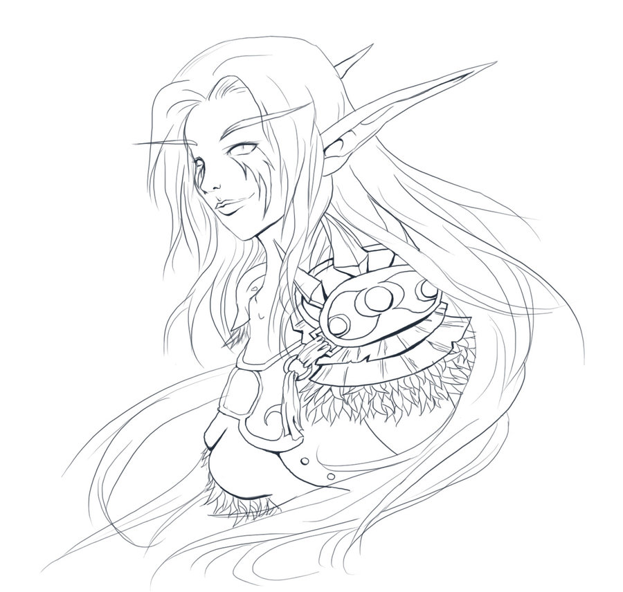 900x856 Wow Elves Coloring Pages More Like Warlock Oc