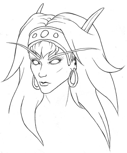 538x648 Blood Elf Sketch By Letrasiant