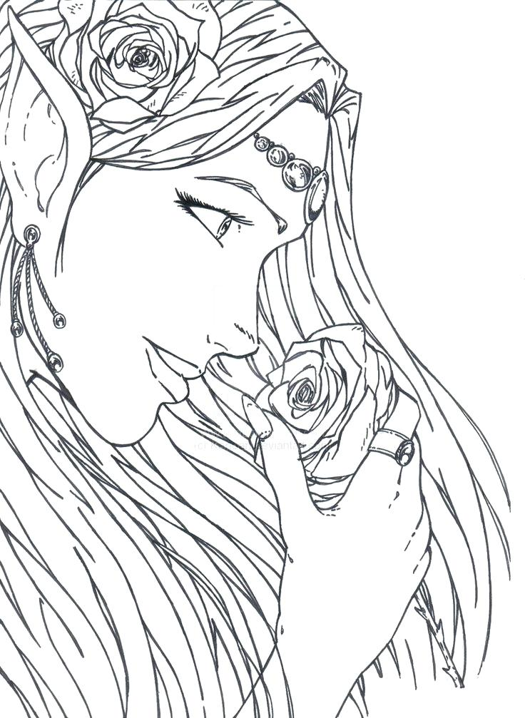 736x1007 Elf Coloring Pages Images About Coloring Pages Elves On Elf On