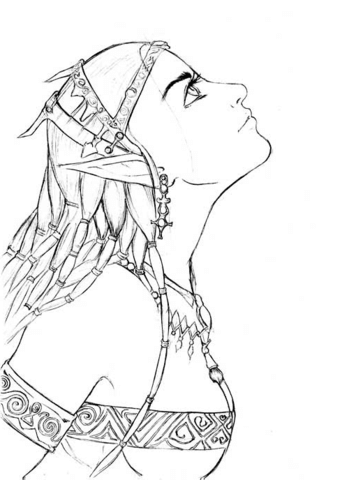 349x480 Elf Girl Portrait Coloring Page Free Printable Coloring Pages
