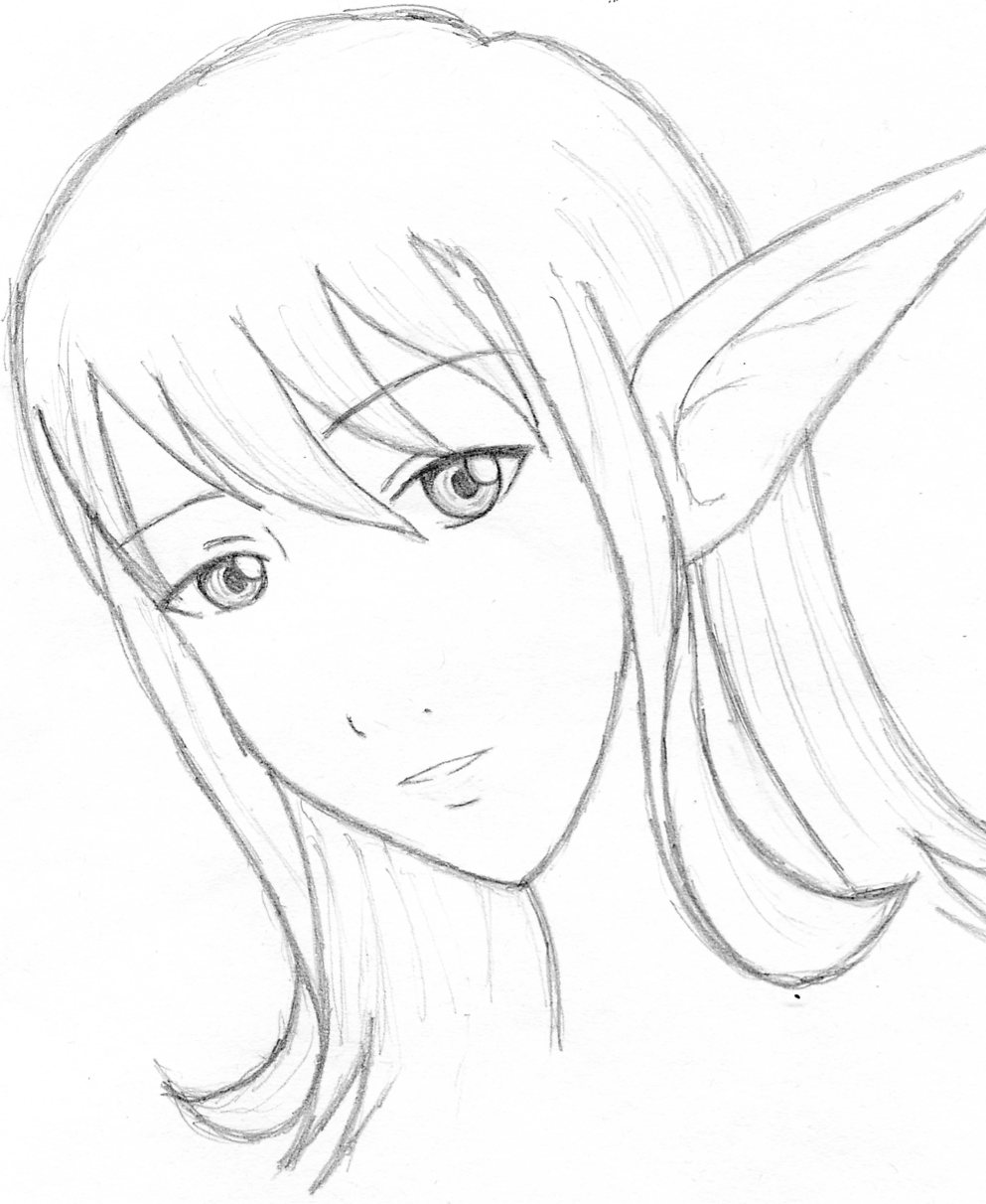 993x1212 Elf Girl By Water Earth Fire Air